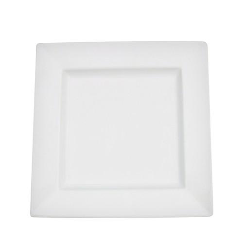 "CAC China PNS-3 Princesquare Porcelain 12 oz. Soup Plate 9"""