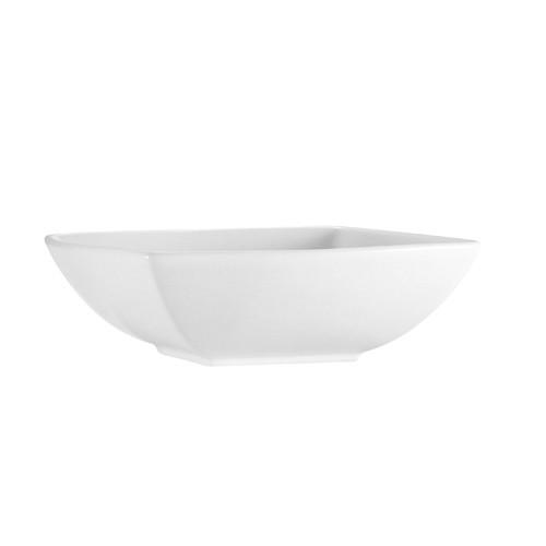"CAC China PNS-B7 Princesquare Porcelain 24 oz. Square Bowl, 7-1/2"""