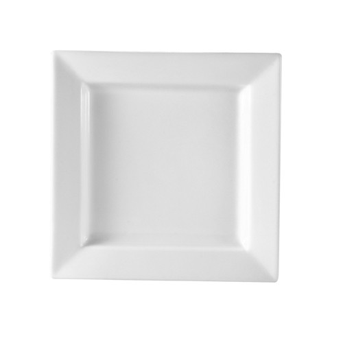 CAC China PNS-16 Princesquare Porcelain Square Plate 10""