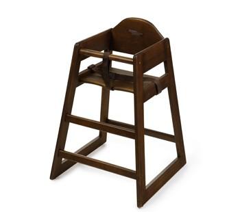 G.E.T. Enterprises HC-101C-P Chestnut Finish Hardwood Palletized High Chair - Assembled