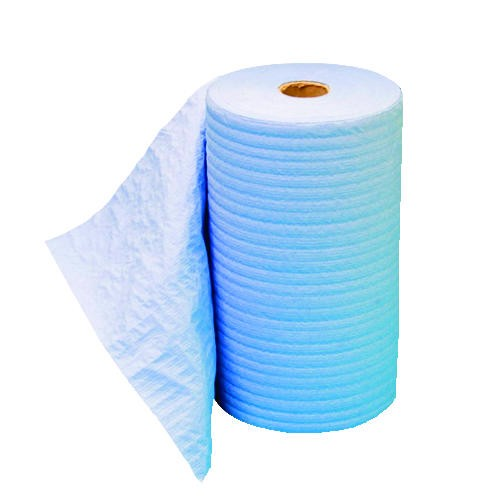 Prism Scrim Reinforced Wipers, 4-ply, 9.75 x 275 ft Roll, Blue