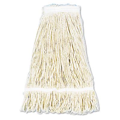 Pro Loop Web/Tailband Wet Mop Head, Cotton, 24oz, White
