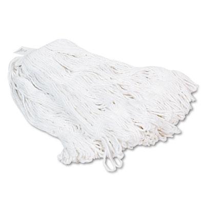 Pro Loop Web/Tailband Wet Mop Head, Rayon, 24oz, White, 12/Carton