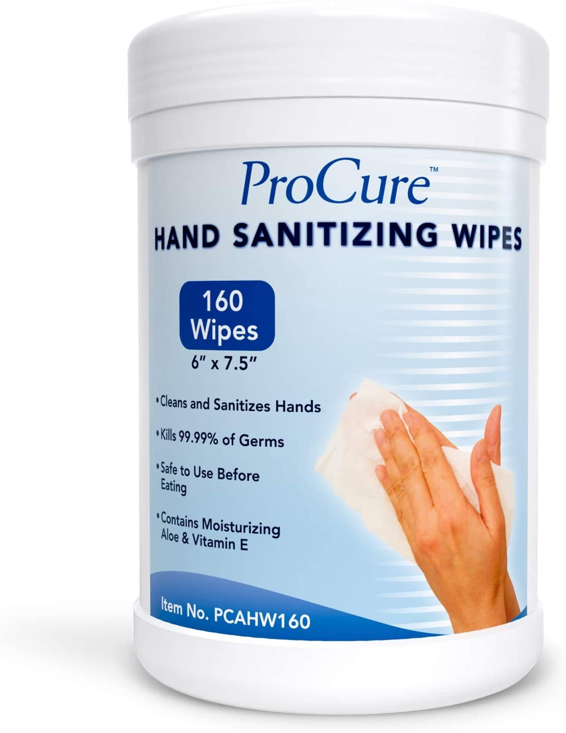 ProCure Hand Sanitizing Wipes Canister,160 Wipes