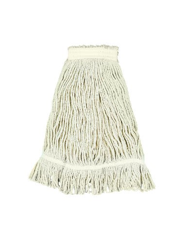 Pro Loop Web/Tailband Wet Mop Head, Rayon, #24 Size, White,