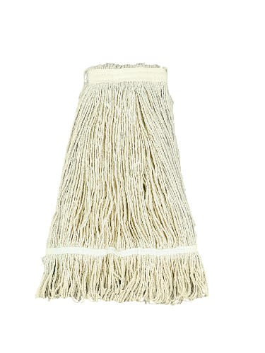 Pro Loop Web/Tailband Wet Mop Head, Rayon, 24 oz, White