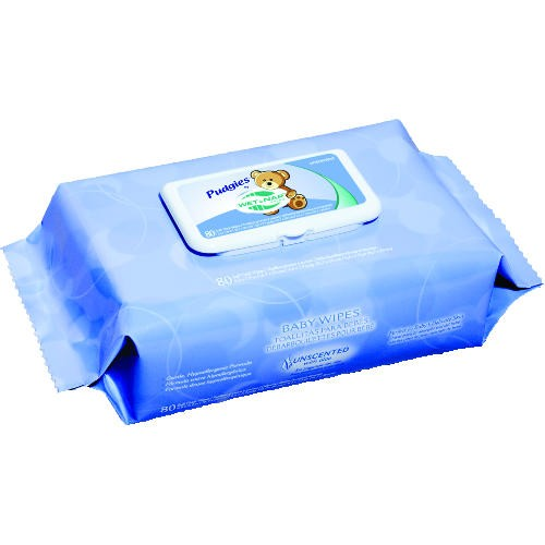 Pudgies Baby Wipes, Unscented