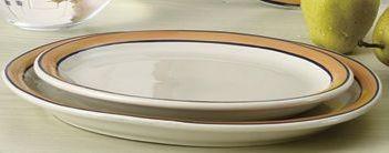 """Yanco PR-12Y Puerto Rico 10-3/8"""" Wide Rim Oval Platter"""