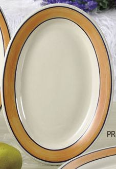 """Yanco PR-14Y Puerto Rico 12-1/2"""" Wide Rim Platter"""