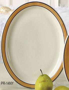 """Yanco PR-14NY Puerto Rico 13-1/2"""" Narrow Rim Platter"""