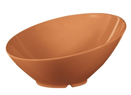 G.E.T. Enterprises B-790-PK Diamond Harvest Pumpkin 1.9 Qt. Melamine Cascading Bowl