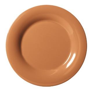 "G.E.T. Enterprises WP-12-PK Diamond Harvest Pumpkin Melamine Wide Rim Plate 12"""