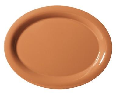 "G.E.T. Enterprises OP-120-PK Diamond Harvest Pumpkin Melamine 12"" x 9"" Oval Platter,"