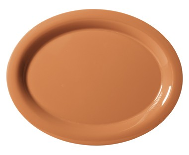 "G.E.T. Enterprises OP-135-PK Diamond Harvest Pumpkin Melamine Oval Platter, 13-1/2"" x 10-1/4"""