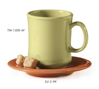 "G.E.T. Enterprises SU-2-PK Diamond Harvest Pumpkin Melamine 5-1/2"" Saucer for C-108, TM-1208 &?TM-1308"