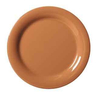 G.E.T. Enterprises NP-6-PK Diamond Harvest Pumpkin Melamine Narrow Rim Plate 6-1/2""