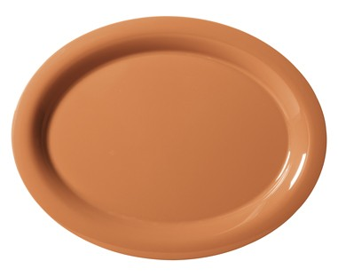 "G.E.T. Enterprises OP-950-PK Diamond Harvest Pumpkin Melamine 9-3/4"" x 7-1/4"" Oval Platter,"