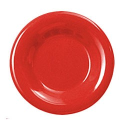 Thunder Group CR010PR Pure Red Melamine Wide Rim Round Plate 10-1/2""