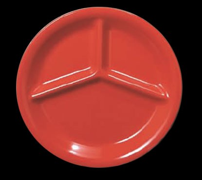 Pure Red Melamine 10 1/4