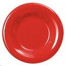 Thunder Group CR012PR Pure Red Melamine Wide Rim Round Plate 12""