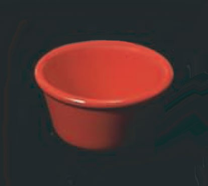 Thunder Group ml538pr Pure Red Melamine 4 oz. Smooth Ramekin 3-3/8""