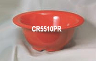 Thunder Group CR5510PR Pure Red Melamine 10 oz. Soup Bowl