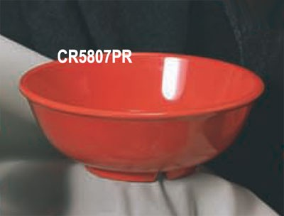 Thunder Group CR5807PR Pure Red Melamine 32 oz. Salad Bowl