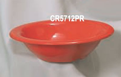 Thunder Group CR5712PR Pure Red Melamine 12 oz. Soup Bowl