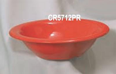"Thunder Group CR5712PR Pure Red Melamine 12 oz. Soup Bowl 7-1/2"""