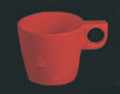 Pure Red Melamine 7 Oz Stacking Mug