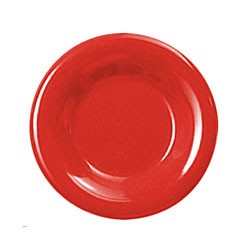 Thunder Group CR009PR Pure Red Melamine Wide Rim Round Plate 9""