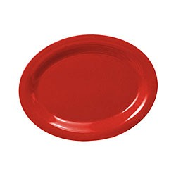 "Thunder Group CR209PR Pure Red Melamine Oval Platter, 9-1/2"" x 7-1/4"""
