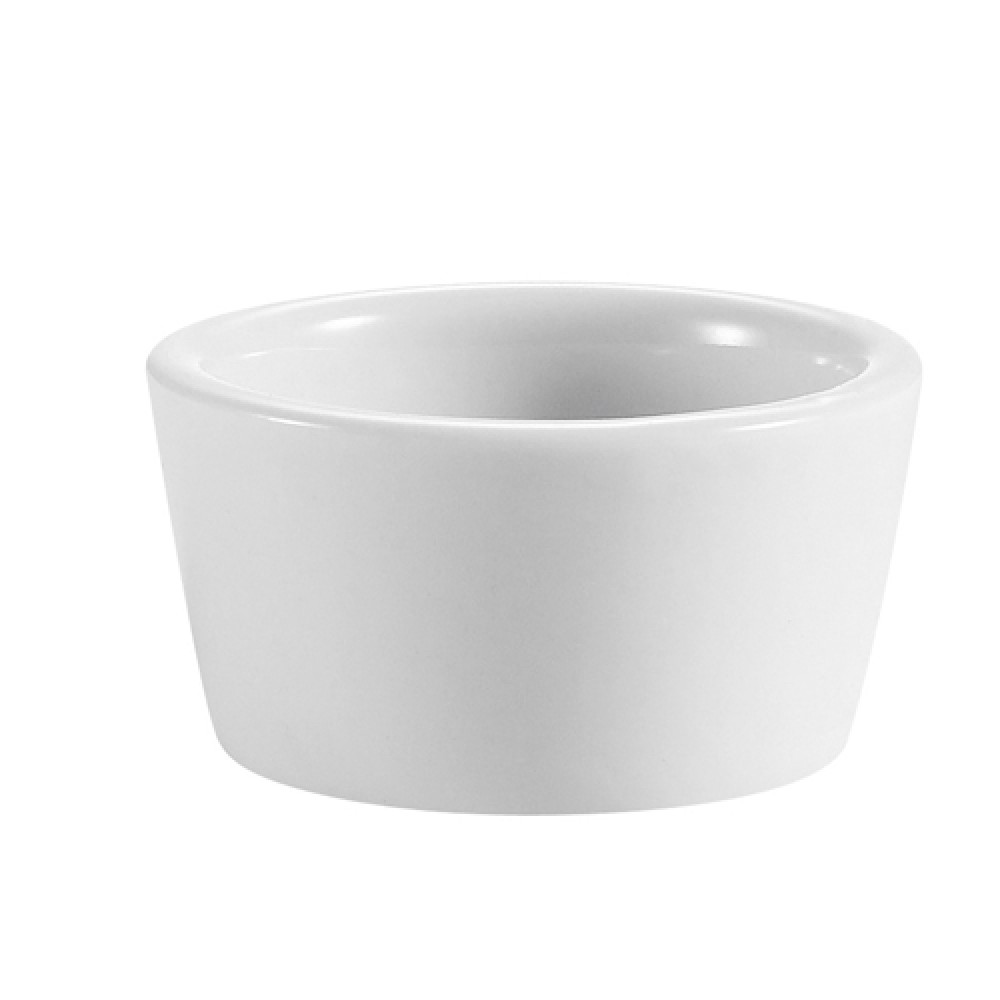 CAC China RKF-6-P Super White Smooth Ramekin 6 oz.