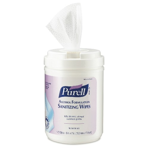 Purell Alcohol Wipes, 175-Count Canister