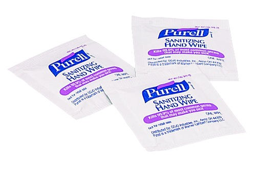 Purell Sanitizer Wipe Towlet, Individually Wrapped