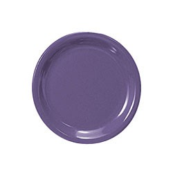 Purple Melamine Narrow Rim Round Plate - 6-1/2
