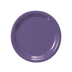 Purple Melamine Narrow Rim Round Plate - 7-1/2