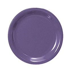 Purple Melamine Narrow Rim Round Plate - 9