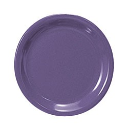 Purple Melamine Narrow Rim Round Plate - 10-1/2