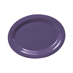 Purple Melamine Oval Platter - 9-1/2