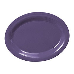 Purple Melamine Oval Platter - 12