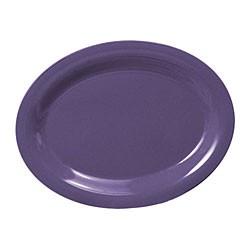 """Thunder Group CR212BU Purple Melamine Oval Platter, 12"""" x 9"""""""