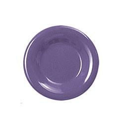"Thunder Group CR005BU Purple Melamine Wide Rim Round Plate 5-1/2"""