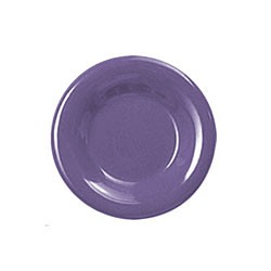 Thunder Group CR006BU Purple Melamine Wide Rim Round Plate 6-1/2""