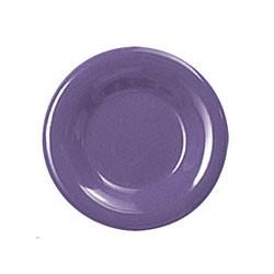 Purple Melamine Wide Rim Round Plate - 7-1/2