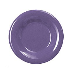 Thunder Group CR009BU Purple Melamine Wide Rim Round Plate 9""