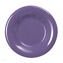 Thunder Group CR010BU Purple Melamine Wide Rim Round Plate 10-1/2""