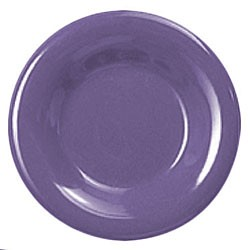 Thunder Group CR012BU Purple Melamine Wide Rim Round Plate 12""