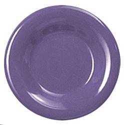 Purple Melamine Wide Rim Round Plate - 12