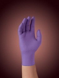 "Professional Purple Nitrile Xtra Exam Gloves, Small, 9-1/2"" Length, 100/Box"